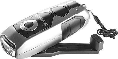 VARTA LED Dynamo Light (3x 5 mm, mit Handkurbel Taschenlampe Flashlight Handlampe Leuchte, mit Kurbel - 100% batterieunabhängig - geeignet für Auto, Garage, Notfall, Stromausfall, Camping, Outdoor)